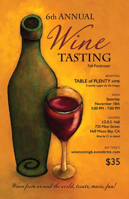 Poster: 6th Annual WINE TASTING for Table of PLENTY