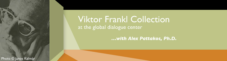 Banner with the words, Viktor Frankl Collection and a photo of Viktor Frankl