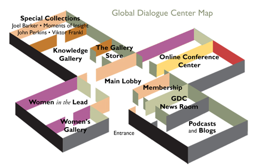 an isometric view of the Global Dialogue Center